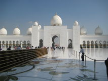 Sheikh Zayed Grand Mosque i Abu Dhabi - II Royaltyfria Foton