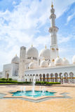Sheikh Zayed Grand Mosque i Abu Dhabi, UAE Royaltyfri Fotografi