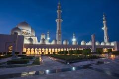 Sheikh Zayed Grand Mosque i Adu Dhabi Royaltyfri Fotografi