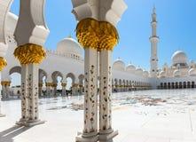 Sheikh Zayed Grand Mosque il 2 ottobre 2014 in Abu Dhabi Fotografia Stock Libera da Diritti