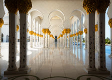 Sheikh Zayed Grand Mosque il 2 ottobre 2014 in Abu Dhabi Fotografie Stock