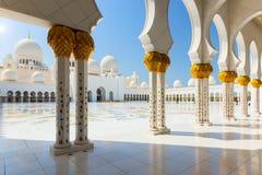 Sheikh Zayed Grand Mosque il 2 ottobre 2014 in Abu Dhabi Fotografia Stock