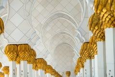 Sheikh Zayed Grand Mosque-Innenraum, Abu Dhabi - UAE Stockfotos