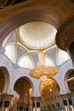 Sheikh Zayed Grand Mosque interior Fotos de archivo libres de regalías