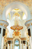 Sheikh Zayed Grand Mosque interior Stock Photo