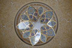 Sheikh Zayed Grand Mosque-Kristallleuchter Stockbild