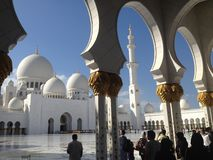 The Sheikh Zayed Grand Mosque royalty free stock photos
