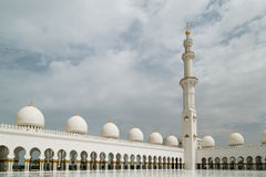 Sheikh Zayed Grand Mosque. Is located in Abu Dhabi, is considered to be the key for worship in the country Royalty Free Stock Photography