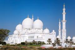 Sheikh Zayed Grand Mosque nell'Abu Dhabi, Emirati Arabi Uniti fotografie stock libere da diritti