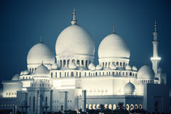 Sheikh Zayed Grand Mosque by night Royalty Free Stock Image