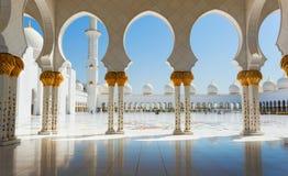 Sheikh Zayed Grand Mosque o 2 de outubro de 2014 em Abu Dhabi Imagem de Stock