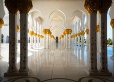 Sheikh Zayed Grand Mosque o 2 de outubro de 2014 em Abu Dhabi Fotos de Stock