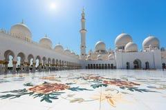 Sheikh Zayed Grand Mosque o 2 de outubro de 2014 em Abu Dhabi Imagem de Stock Royalty Free