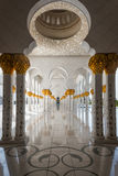 Sheikh Zayed Grand Mosque o 2 de outubro de 2014 em Abu Dhabi Foto de Stock