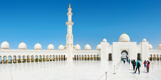 Sheikh Zayed Grand Mosque on October 2, 2014 in Abu Dhabi Stock Images