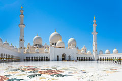 Sheikh Zayed Grand Mosque on October 2, 2014 in Abu Dhabi Stock Photo