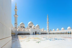 Sheikh Zayed Grand Mosque on October 2, 2014 in Abu Dhabi Stock Image