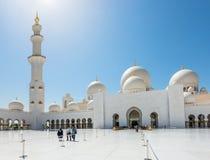 Sheikh Zayed Grand Mosque am 2. Oktober 2014 in Abu Dhabi Stockfotografie