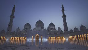 Sheikh Zayed Grand Mosque is one of the six largest mosques in the world royalty free stock photography