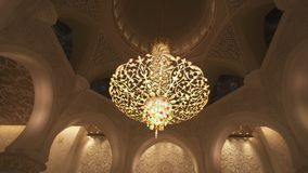 Sheikh Zayed Grand Mosque is one of the six largest mosques in the world royalty free stock photo