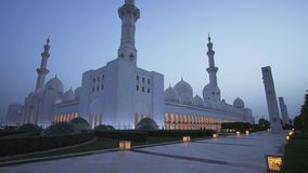 Sheikh Zayed Grand Mosque is one of the six largest mosques in the world stock image