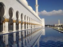 The Sheikh Zayed Grand Mosque stock photography
