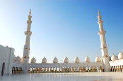 Sheikh Zayed Grand Mosque during sunset Royalty Free Stock Photography