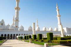 Sheikh Zayed Grand Mosque during sunset Royalty Free Stock Image