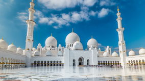 Sheikh Zayed Grand Mosque timelapse hyperlapse located in Abu Dhabi - capital city of United Arab Emirates. stock footage