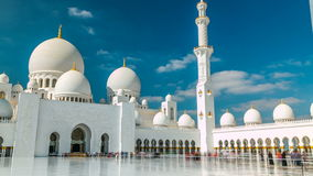 Sheikh Zayed Grand Mosque timelapse located in Abu Dhabi - capital city of United Arab Emirates. stock video footage
