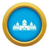 Sheikh Zayed Grand Mosque, vetor azul do ícone dos UAE isolado ilustração stock