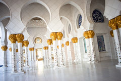 Sheikh Zayed Grande Mesquita Abu Dhabi Imagens de Stock Royalty Free