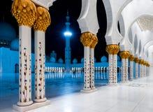 Sheikh Zayed Grande Mesquita, Abu Dhabi, UAE Fotografia de Stock Royalty Free