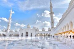 Sheikh Zayed Grande Mesquita, Abu Dhabi, UAE Fotos de Stock Royalty Free