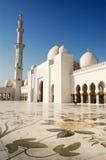 Sheikh Zayed Grande Mesquita durante o por do sol Foto de Stock