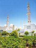 Sheikh Zayed Grande Mesquita em Abu Dhabi Fotografia de Stock