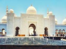 Sheikh Zayed kosza sułtanu Al Nahyan meczet, Abu Dhabi, Zlany arab obraz stock