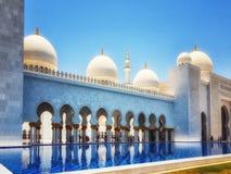 Sheikh Zayed kosza sułtanu Al Nahyan meczet, Abu Dhabi, Zlany arab fotografia royalty free