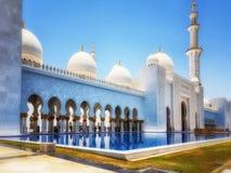 Sheikh Zayed kosza sułtanu Al Nahyan meczet, Abu Dhabi, Zlany arab obrazy royalty free