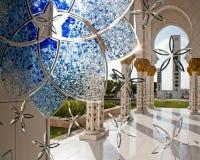 Sheikh Zayed meczet, Abu Dhabi, Zjednoczone Emiraty Arabskie Obraz Royalty Free