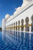 Sheikh Zayed meczet przy Abu-Dhabi Fotografia Stock