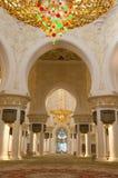 Sheikh Zayed meczetu wnętrza Obraz Stock