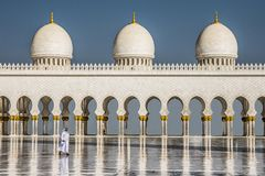 Sheikh Zayed Mesquita imagem de stock
