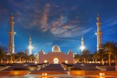 Sheikh Zayed-Moschee in Abu Dhabi, UAE Lizenzfreie Stockbilder