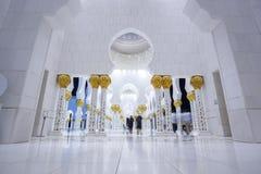 Sheikh Zayed-Moschee in Abu Dhabi, Vereinigte Arabische Emirate, Mittlere Osten Lizenzfreie Stockfotos
