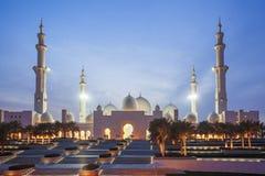 Sheikh Zayed-Moschee in Abu Dhabi, Vereinigte Arabische Emirate, Mittlere Osten Stockfotos