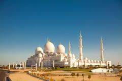 Sheikh Zayed Moské i Abu Dhabi Arkivbild
