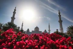 Sheikh Zayed moské i Abu Dhabi, Förenade Arabemiraten, Mellanösten Arkivfoto