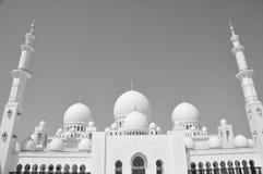 Sheikh Zayed Moské i b-&W Royaltyfria Foton