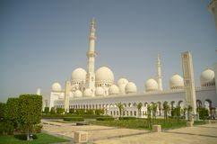 Sheikh Zayed mosk. A general view of the Sheikh Zayed mosk in Abu Dhabi Stock Photos